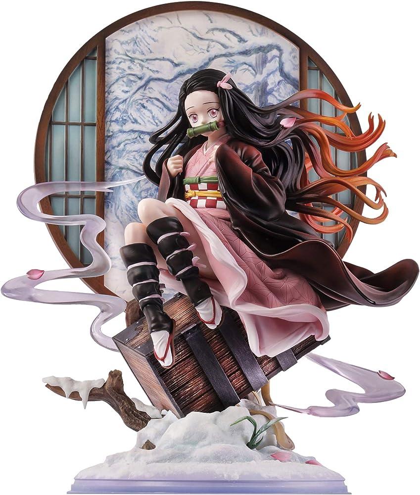 Wuhuayu , statua di  nezuko kamado di demon slayer: kimetsu no yaiba , 31 cm , in resina YUKIYAFGK039K05