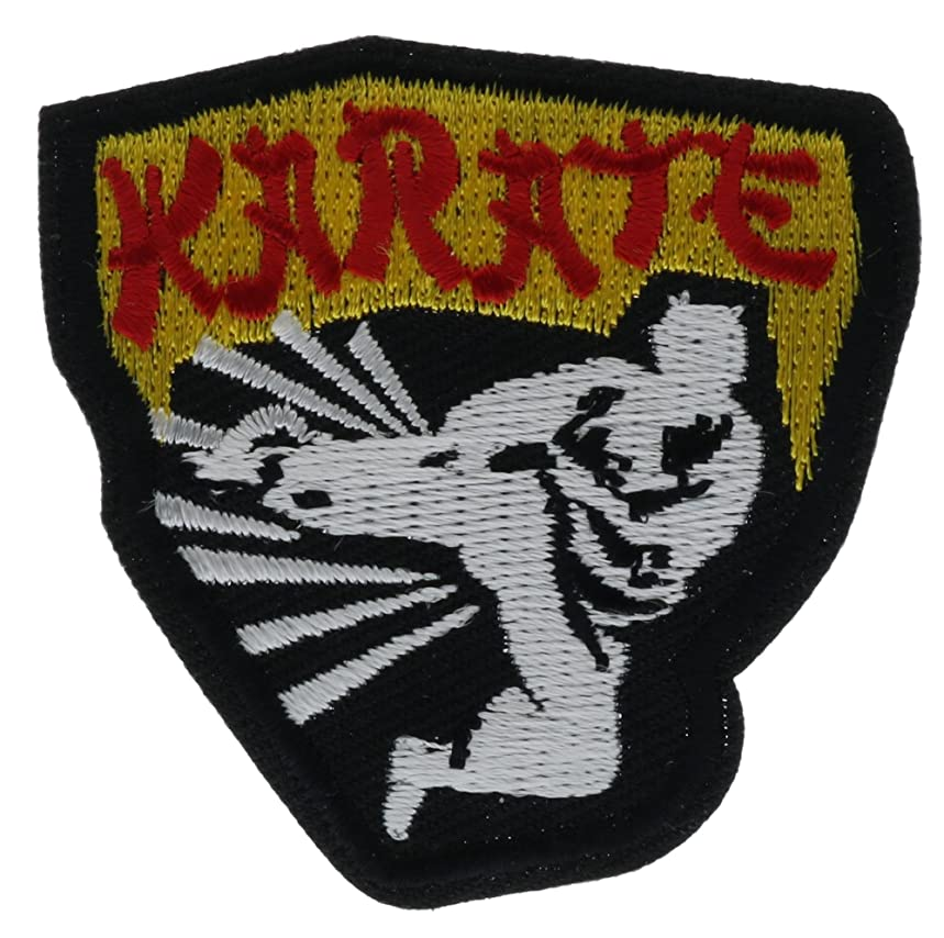 Karate Kick Embroidered Patch Left 2 inch AVA0591