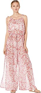 Michael Michael Kors Printed Jumpsuit Cover-Up Sea Coral MD