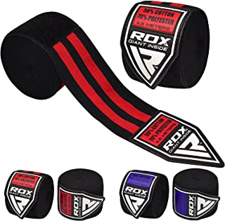 RDX Boxing Hand Wraps Inner Gloves Professional for MMA Training - Great for Punching, Muay Thai, Kickboxing, Martial Arts...