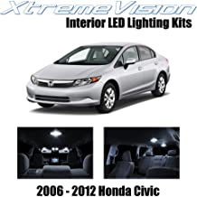 XtremeVision Interior LED for Honda Civic 2006-2012 (10 Pieces) Pure White Interior LED Kit + Installation Tool