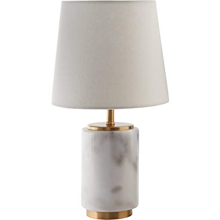 Catalina Lighting 20640 000 Modern Pillar Marble Table Lamp With Polished Nickel Accents 24 5 Classic White Grey Home Improvement