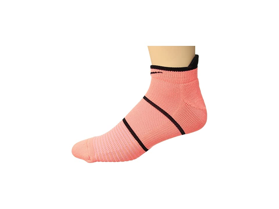 Nike NikeCourt Essentials No Show Tennis Socks (Lava Glow/Black) No Show Socks Shoes