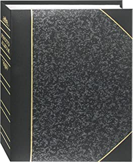 Pioneer Photo Albums BT-68 100-Pocket Leatherette Cover Ledger Style Le Memo Photo Album, 6 by 8-Inch, Silver and Black