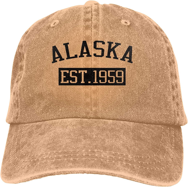 Denim Cap Alaska est 1959 Baseball Dad Cap Classic Adjustable Casual Sports for Men Women Hats
