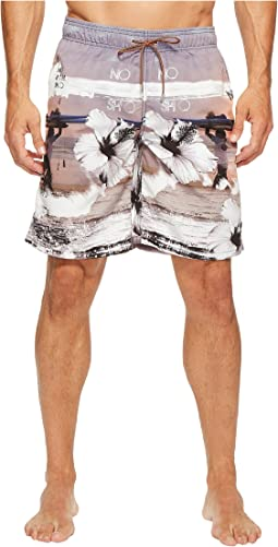 Tropical Sunset Swim Trunks
