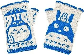 Totoro Fingerless Gloves - hand-knit from pure merino wool. Totoro Gloves Arm Warmers Merino Fingerless Gloves Texting Gloves