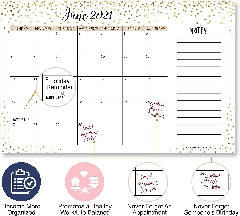 2022 Desktop Calendar.Desk Calendars 18 Month Academic Desktop Calendar Or Planning Blotter Pad Spacious Notes Section For Teachers Family Or Business Office 11x17 Elegant Gold 2021 2022 Desk Calendar Large Monthly Wall Planner Office Supplies