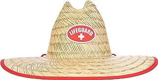 Lifeguard Straw Hat   Professional Beach Guard Red Sun Cap Men Women Costume Uniform