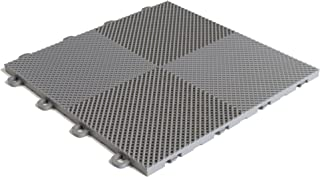 MODUTILE Interlocking Perforated/Drain Floor Tiles - 30 sq.ft. (Gray)
