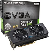 EVGA GeForce GTX 970 4GB SC GAMING ACX 2.0, 26% Cooler and 36% Quieter Cooling Graphics Card 04G-P4-2974-KR (Renewed)