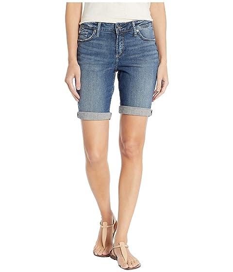 52fb8385ed Silver Jeans Co. Elyse Mid-Rise Curvy Fit Bermuda Shorts in Indigo  L53015SJL373