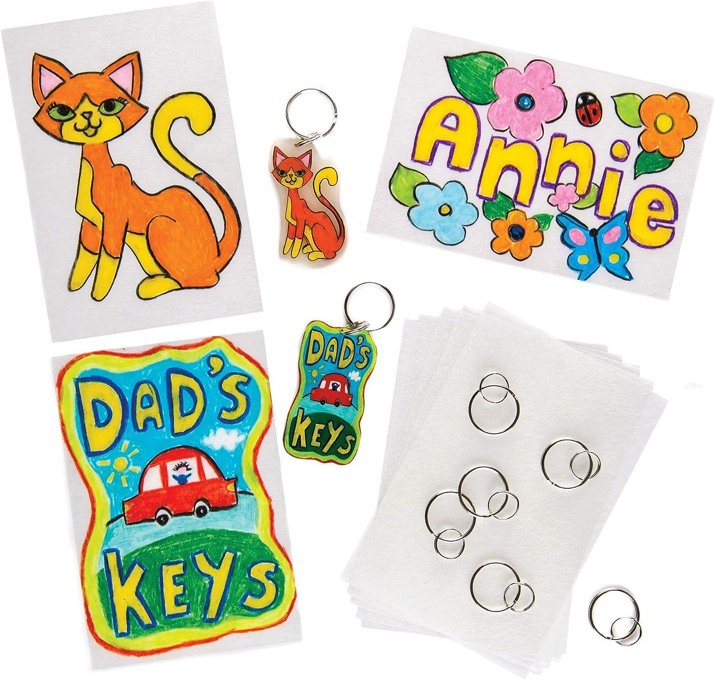 Baker Ross Design Sales of Factory outlet SALE items from new works a Super Shrink 6 Keyring Pack Set