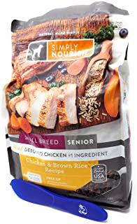 Simply Nourish Small Breed Senior Adult Dry Dog Food - Chicken & Brown Rice, 5 pounds and Especiales Cosas Spatula