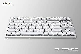 Mistel Sleeker MD870 Mechanical Keyboard Chrerry MX Clear Switch Silver Full CNC Aluminum Case Mac Windows (Tenkeyless, Single White LED Backlit, PBT Dye-Sub Keycap, ANSI/US Layout)