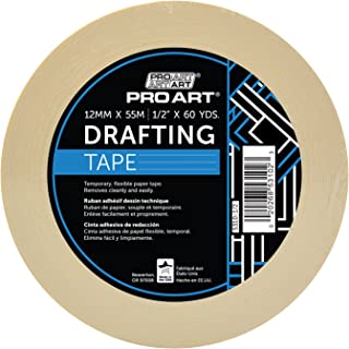 Pro Art 1-Inch by 36-Yards Drafting Tape, 1/2-inch x 60-Yard Roll