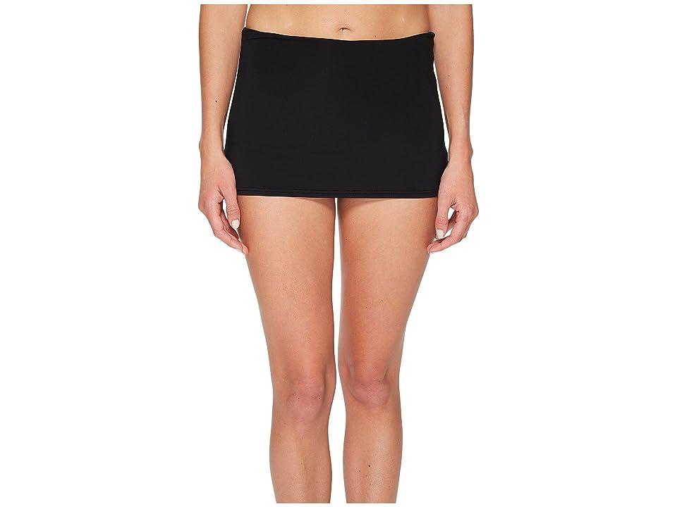Seafolly High-Waisted Skirted Pants (Black) Women