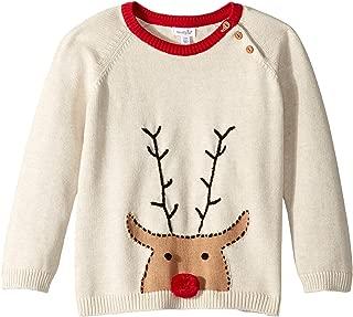 Mud Pie Mens Reindeer Long Sleeve Christmas Sweater (Infant/Toddler)