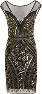1920s Short Prom Dresses V Neck Inspired Sequins Cocktail Flapper Dress
