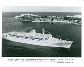 Vintage Photos Wire Photo Ship Fairwind Sitmar Cruises Vessel SanJuan Puerto Caribbean 8x10