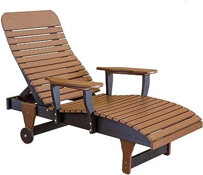 Amazon.com: Lyxpuzi - Mecedora de bambú plegable con sillón ...