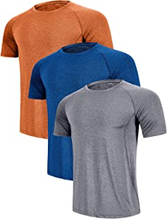 Men's Quick Dry T-Shirt Athletic Moisture-Wicking Dry Fit Running Shirts