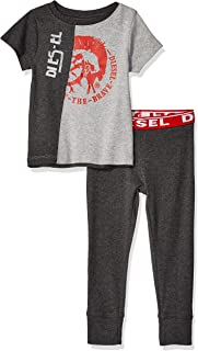 Diesel Sleepwear Boys' Short Sleeve T-Shirt and Jogger Sleepwear Set