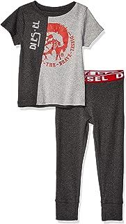 Diesel Sleepwear 男孩短袖 T 恤和慢跑者睡衣套装