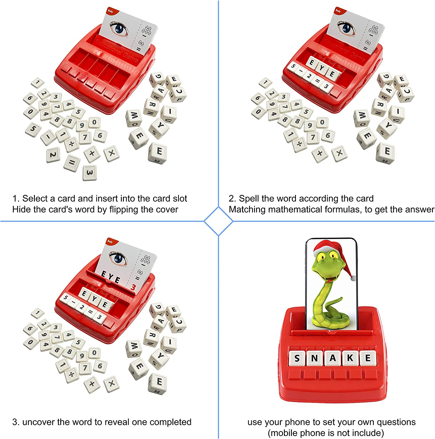 Teaches Word Recognition Yellow and Increases Memory HONTOK 2 in 1 ...