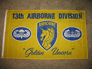 ALBATROS 3 ft x 5 ft US Army 13th Airborne Golden Unicorn Flag Banner for Home and Parades, Official Party, All Weather Indoors Outdoors