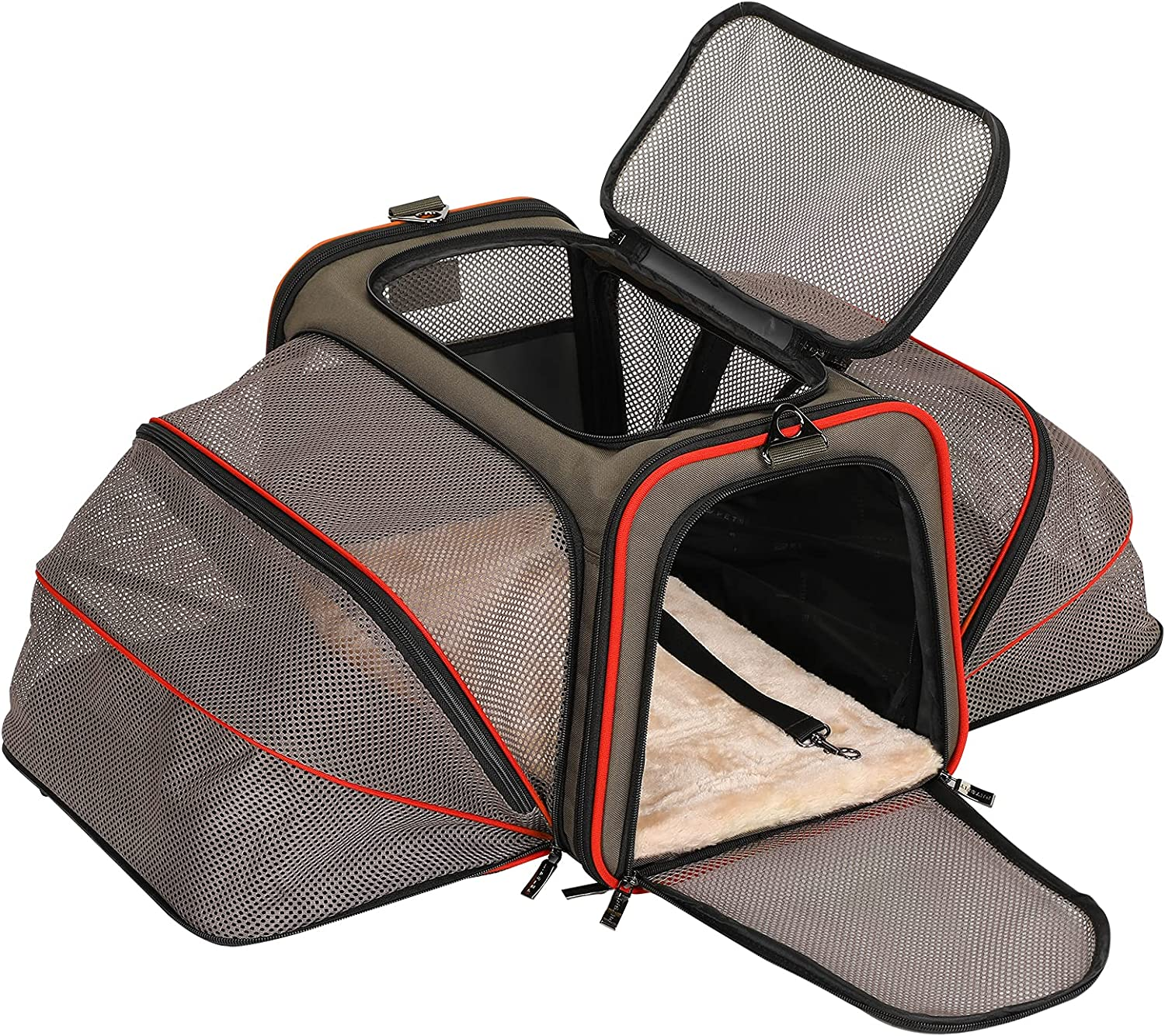 Petsfit Expandable Cat Carrier Dog Soft High quality new Approved Airline Fashion