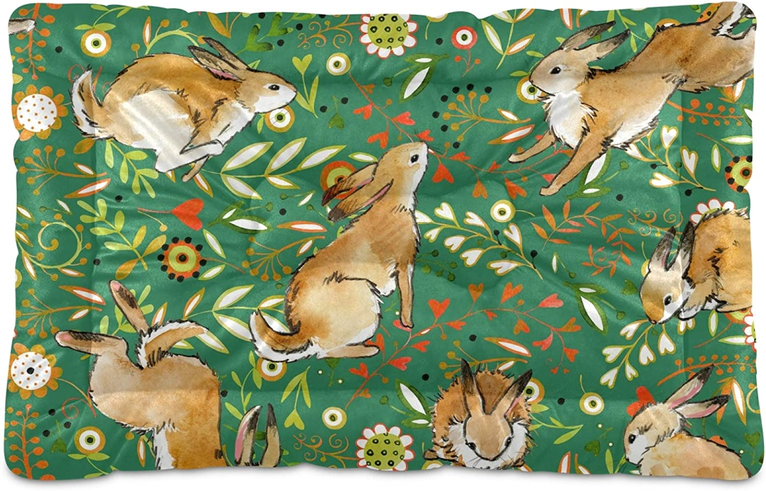Dog Bed Brand new Rabbit Gifts Color Flowers for Mat Mattress Washable Crate