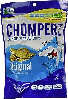 Seasnax Chomperz Crunchy Original Seaweed Chips, 1 Ounce -- 8 per case.