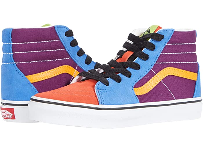 Vintage Children's Clothing Pictures & Shopping Guide Vans Kids SK8-Hi Little Kid Mix  Match Grape JuiceBright Marigold Kids Shoes $47.00 AT vintagedancer.com