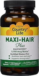 COUNTRY LIFE Vitamins Maxi-Hair Plus BIOTIN, 120 VCAP