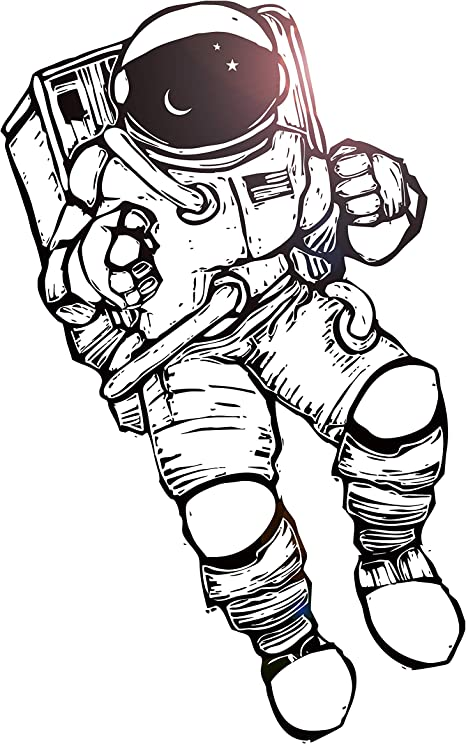z2169 Wall Stickers Vinyl Decal Spaceman Astronaut Space Universe Living Room