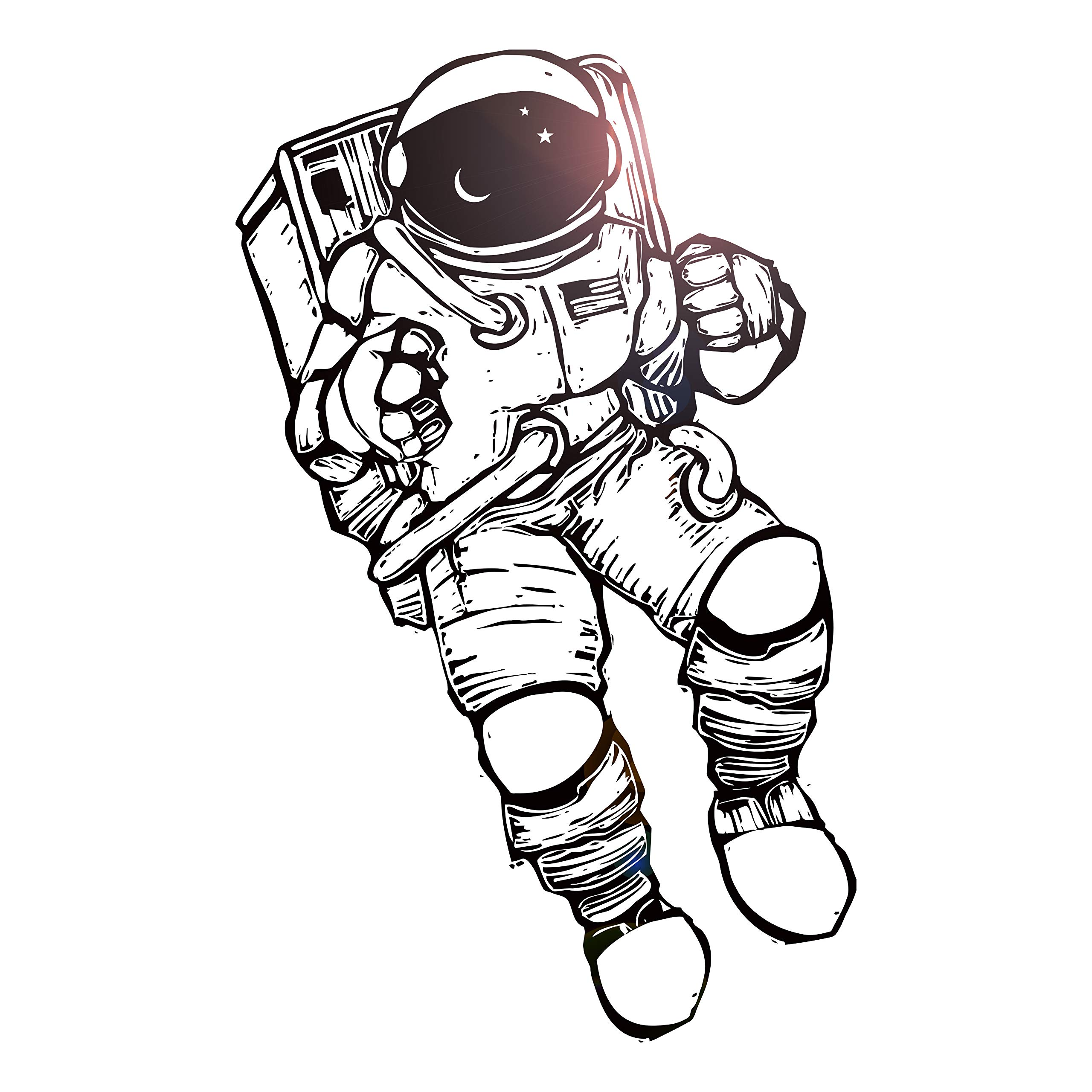 Wall Stickers Vinyl Decal Astronaut, Spaceman, Cosmonaut Space Decor for Living Room (z2169i)