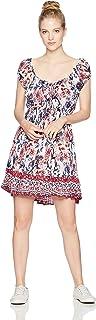 Angie Women's Printed Cap Sleeve Dress