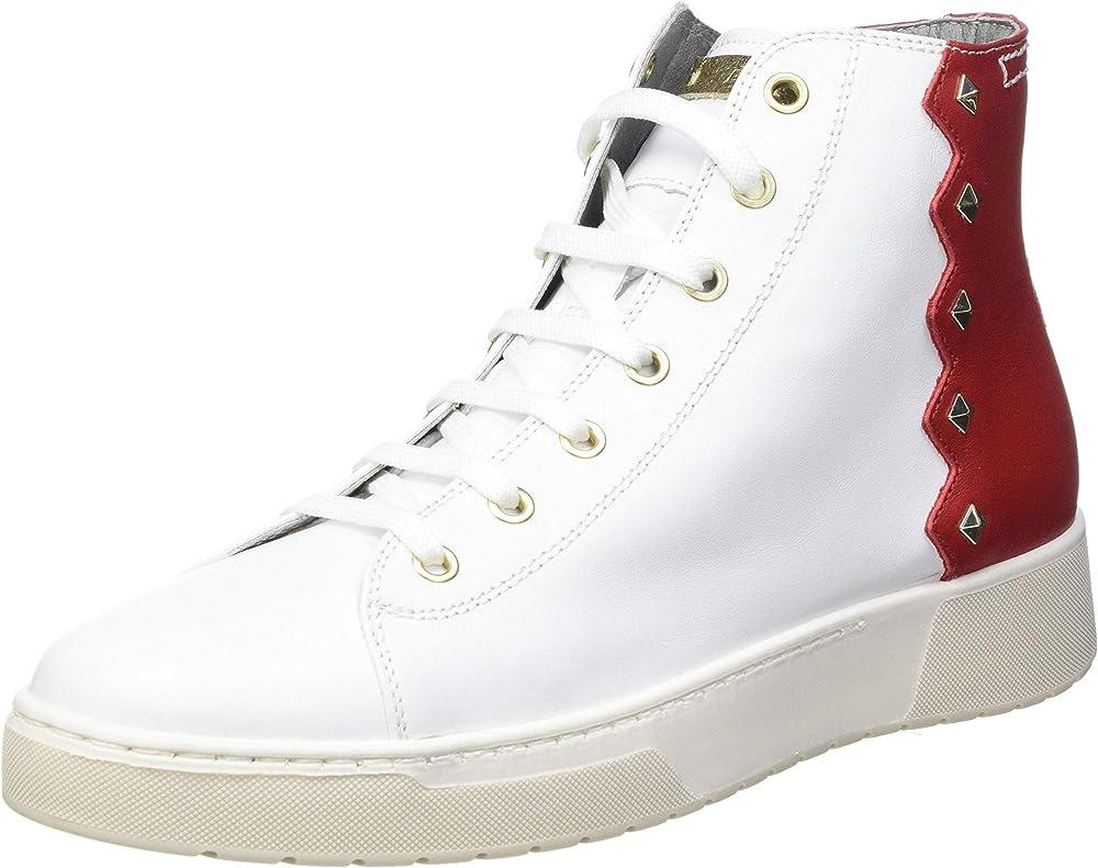 Geox d kapha b scarpe da ginnastica sneakers alte da donna in pelle e borchie D15DAB085CF