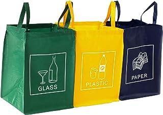 DWD-COMPANY Lot de 3 bacs de déchets Poubelle Trieur à déchets Poubelle de recyclage