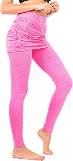 DEAR SPARKLE Skirted Leggings Women   Yoga Tennis Golf Pants Gathered Skirt Pockets + Plus Size (S10)