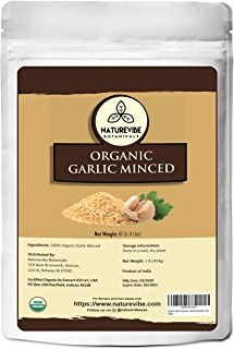Naturevibe Botanicals Organic Garlic Minced, 1lb | Granulated Garlic Organic | Non-GMO and Gluten Free (16 ounces) [Packag...