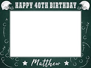 Football Birthday Party Photobooth Frame, Birthday Gift Ideas, Photo Booth Frame Prop, Party Favors, Football Props Photo Booth, American Football Decor, Handmade Party Supplies Photo Size 24x36,48x36