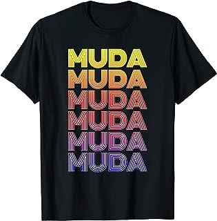 Muda Muda Retro Color Japan Fan T-Shirt