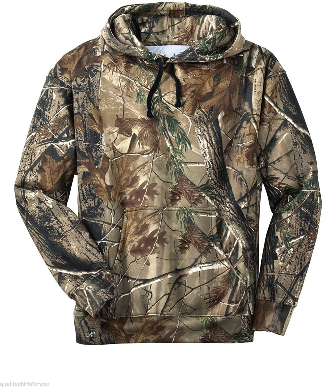 Russell Outdoors Mens Hoodie Realtree AP Camo Hunting Sweatshirt (Large)