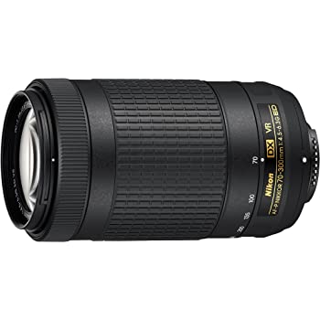 Nikon AF-P DX NIKKOR 70-300 mm f/4.5-6.3G ED VR Lens for DSLR Cameras (Black)