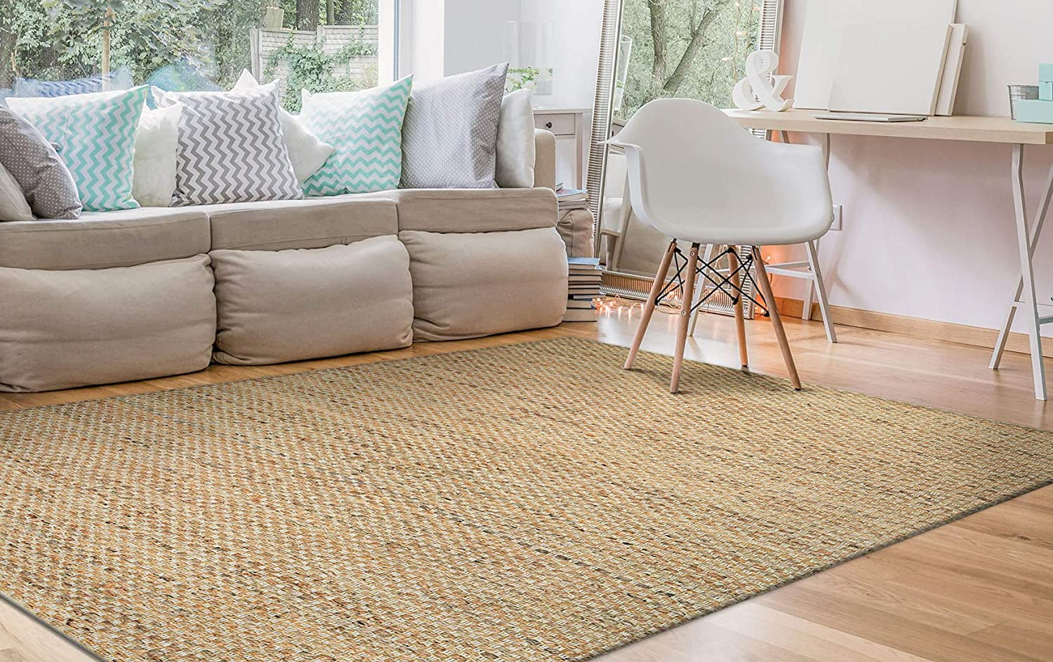 Couristan Nature's Elements Desert Area Rug Credence Ca 5' Natural Seasonal Wrap Introduction x 3'