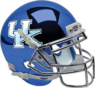chrome blue football helmet