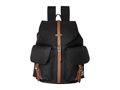 Herschel Supply Co. Dawson X-Small (Black/Tan Synthetic Leather) Bags