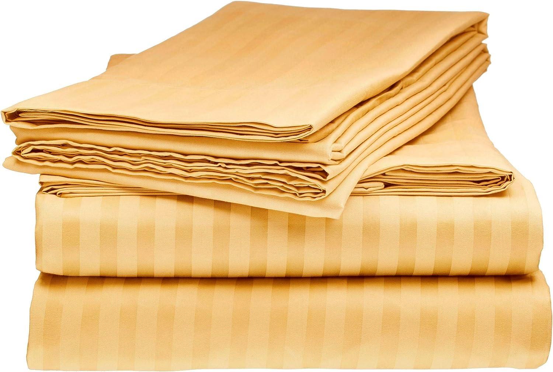 Elegante 1800 Egyptian Comfort Striped 4pc Department store Sheet Full Set G Rare Bed